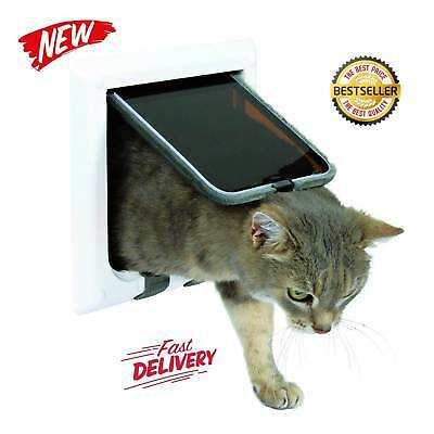 Trixie Pet Products 4-Way Locking Cat Door with Tunnel X-Large