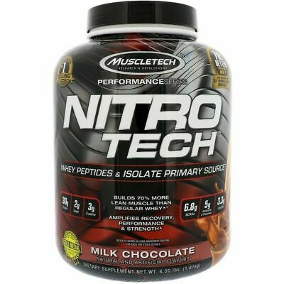 Muscletech Nitrotech 4Lb Nitro Tech Pro Whey Protein Isolate Lean Muscle Builder