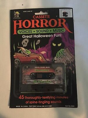 NEW Halloween Cassette Tape Party  Music Horror Voices Sounds —SCARY—