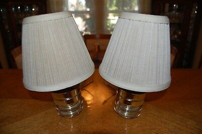 Vintage RV Motorhome Brass Colored Wall Sconce Lamps, Set of 2