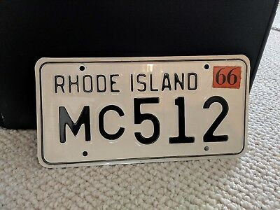 Official 1966 Rhode Island License Plate MC 512-Mint Condition!!!