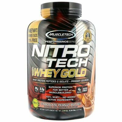 Muscletech NitroTech 100% Whey Protein Gold CHOCOLATE PEANUT BUTTER 5.5lbs 2.5kg