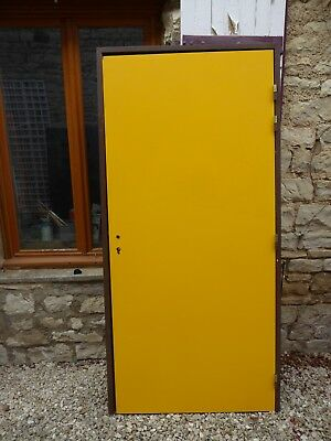 Porte Un Vantail Plaquee 2 Faces Stratifie Jaune