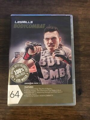 LES MILLS BODYCOMBAT 26 cd, dvd and choreography notes - £17 30