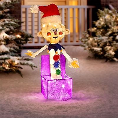 lighted rudolph misfit charlie in the box sculpture outdoor christmas yard decor