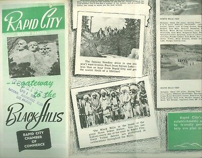 1951 Rapid City SC Black Hills Tourist Brochure
