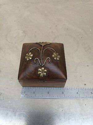 Antique Old Rare Hand Carved Rose Wood Indian Hindu Box!!!
