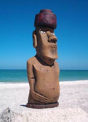 """Authentic Easter Island """"Completed"""" Moai Statue """"Garden Tiki"""""""