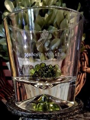 Limited Edition 2016 JOHNNIE WALKER Diamond Prism Base Rocks Glass ~ PRISTINE!