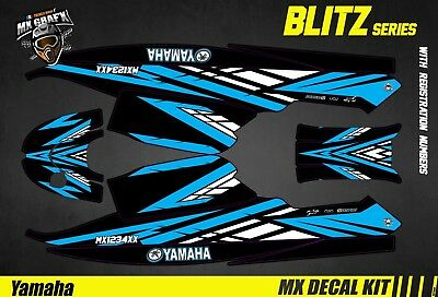 Kit Déco pour / Decal Kit for Jet Ski Yamaha Super Jet - Blitz Blue