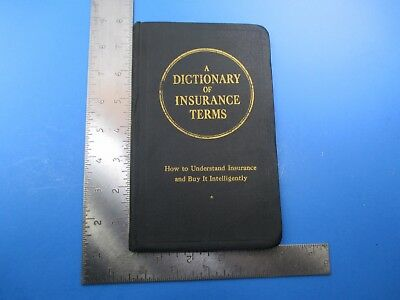 Vintage July 28, 1946 A Dictionary of Insurance Terms Buy Intelligently S7739