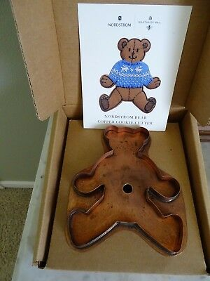 Martha Stewart Nordstrom Copper Bear Cookie Cutter With Box Exclusive