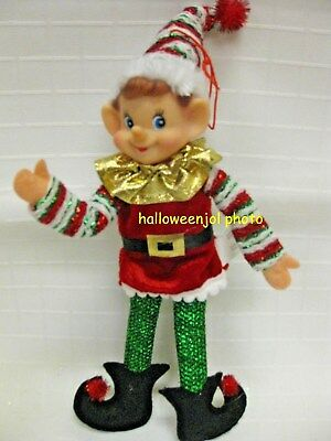 CHRISTMAS PIXIE ELF KNEE HUGGER Shelf Sitter NEW HOLIDAY TREE ORNAMENT ELVES NEW