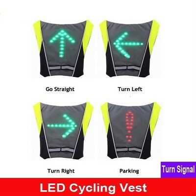 1 Pcs Unisex Outdoor Cycling Safety Vest Bike Ribbon Bicycle Light Reflecing Elastic Harness For Night Riding Running Jogging Cycling