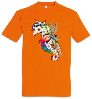 Unifairyhorse T-Shirt Unicorn Horses Fun Rainbow Tattoo Rockabilly Fairies