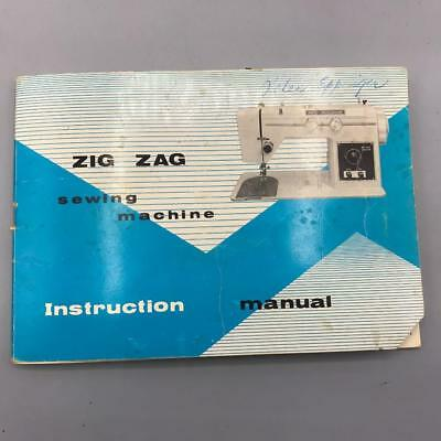 Vintage Zig Zag Sewing Machine Instructions Manual