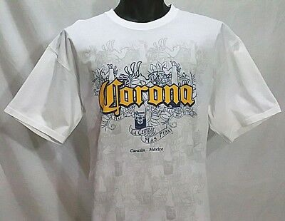 2d1f291ebd82aa CORONA Extra Cerveza Cancun Mexico Beer T Shirt Men s Size XL Beach Surf Tee