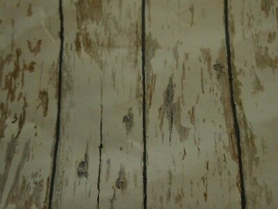 1 double roll (56sq ft) beige, black & gray rustic wood on white wallpaper