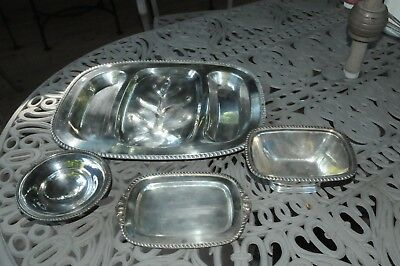 Silver Plate Serving Pieces Lot of 4