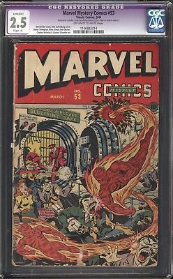 Marvel Mystery Comics #53 Timely Golden Age CGC 2.5