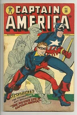 Captain America #59 Timely Golden Age cgc 4.5