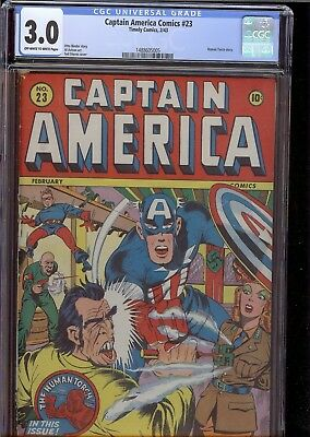Captain America #23 Timely Golden Age CGC 3. scarce