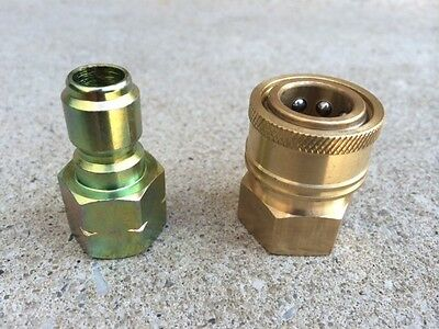 """Pressure Washer 3/8"""" Quick Disconnect Fittings for Female and Male Plug Set"""