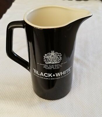 'Black & White' Scotch Pitcher Dogs Fleischmann Distilling Corp. 6 1/2""