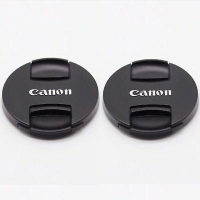2 PCS * 49mm New Style Pinch Lens Cap E-49II for Canon 49mm Lenses UK