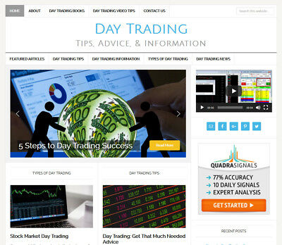 * DAY TRADING * blog website business for sale with DAILY AUTO UPDATING CONTENT