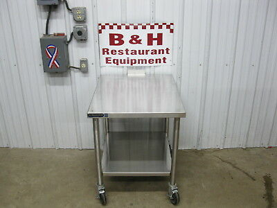 "24"" x 30""  Stainless Steel Hobart Mixer Slicer Stand Oven Grill Equipment Table"