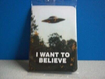 LootCrate Invaders September 2018 X-Files I Want to Believe Hardcover Notepad