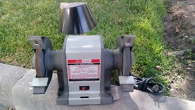 Enjoyable Vintage Sears Craftsman Commercial 1 2Hp Bench Grinder 397 Caraccident5 Cool Chair Designs And Ideas Caraccident5Info