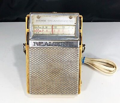 REALTONE Nine Transistor Model TR 970 3 Band Portable Radio