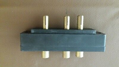 BATES Panel Mount male 3 Stage Pin Connector 60 amp