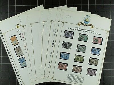 Weeda Tristan da Cunha 1//289a, J1-J5 MNH collection in album CV $574.35