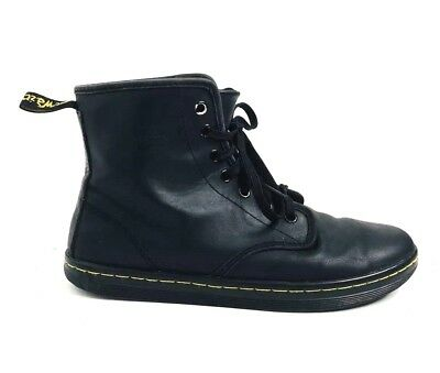 df07efd9a2b DR MARTENS SHOREDITCH Womens Size 8 Black Leather 7-eye Lace Up Boots Shoes