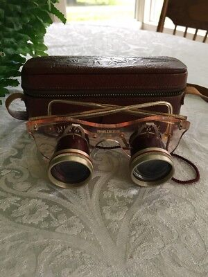 Antique Opera/Sports Binocular Glasses With Case