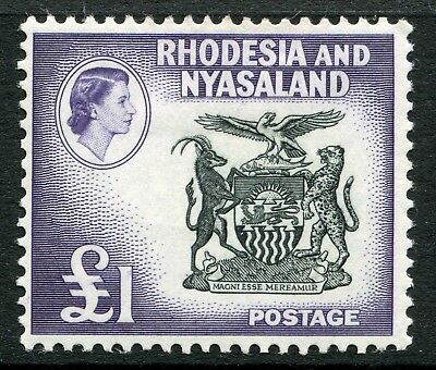 Weeda Rhodesia & Nyasaland #171 F MH 1959-63 issue £1 high value CV $40