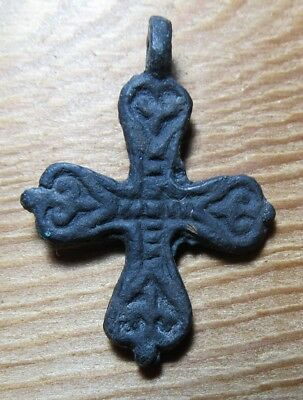 Ancient Viking Bronze Cross  #187
