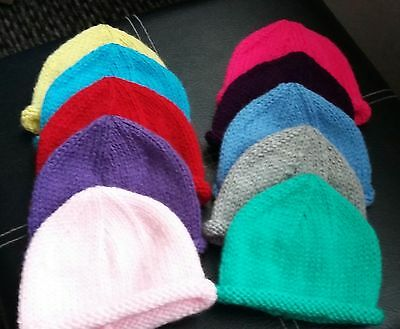 New Hand Knitted 0 - 3 months Hats