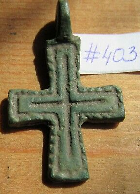 Ancient Viking Bronze Cross #403