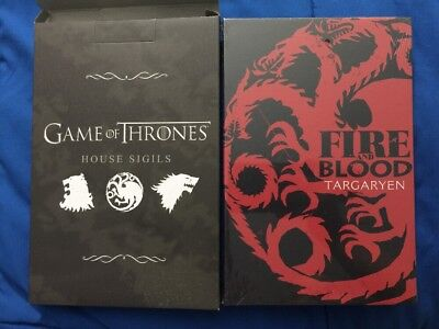 "ThinkGeek Capsule Game of Thrones House Sigil Canvas Art Targaryen Dragon 6""x9"""