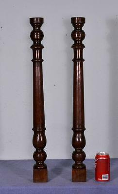 "28"" French Antique Spindles Oak Posts Pillars Architectural Columns Baluster (K)"