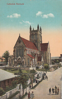 E-432 Bermuda Cathedral Early Postcard