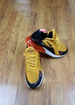 Nike Air Max 270 University Gold Hot Punch Size 10