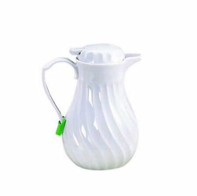 Tablecraft 20 oz  White Swirl Beverage Server | Insulated Coffee Carafe with Thu