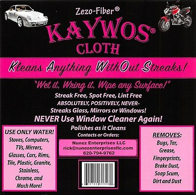 KAYWOS CLOTH - Zero Fiber - AMAZING!  includes FREE SHIPPING! 10 cloths!