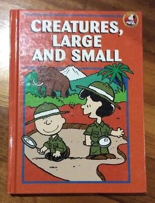 1 X Creatures Large And Small Snoopy Lucy Book Used 1994 Charles M. Schultz
