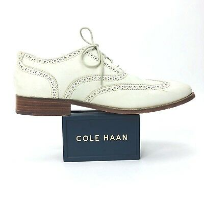 Cole Haan Mens 10 M Air Madison Light  Gray Wingtip Derby Oxfords Shoes